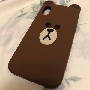 Accessories - 🌟SOLD🌟 iPhone X/XS case - LINE Friends (Brown)